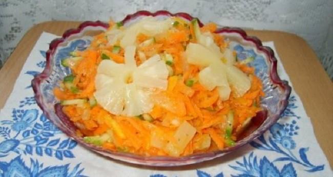 Быстрые блюда на Новый год, салат «5 минут»